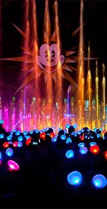 The World of Color show at Disney California Adventure Park