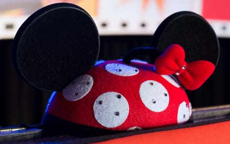 A Minnie ear hat