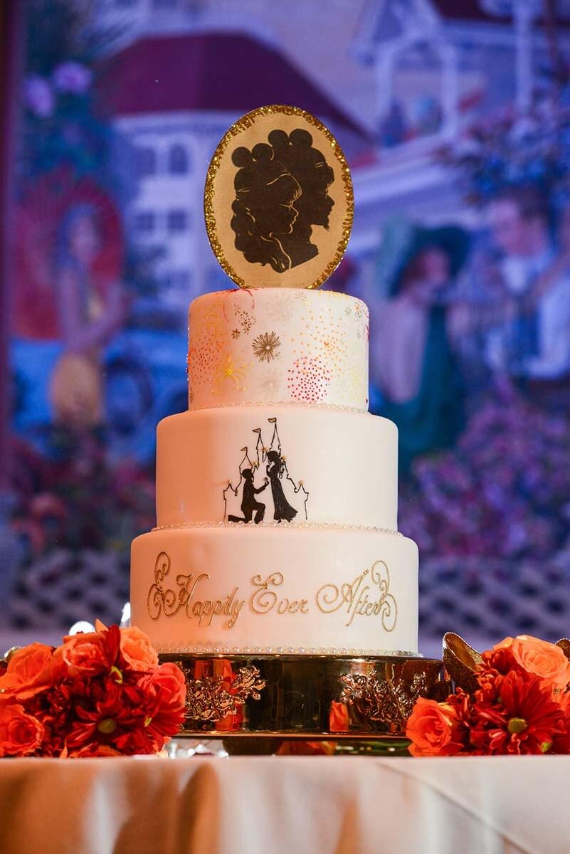 Wedding Cake Wednesday Disney Couple Silhouette Disney Weddings