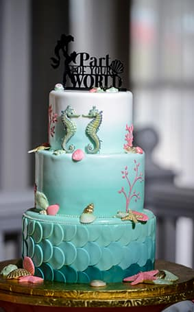 Complete With Seahorses Shells And A Touch Or C Reef It S Sophisticated Take On The Little Mermaid Perfect Subtle Nod To Beloved Disney