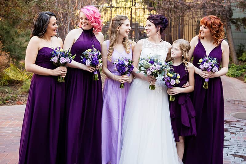 It Stands Out From The Background And Makes For Stunning Bridal Party Portraits Pair With Simple White Fl Or Enhance Purple Dresses A Vibrant