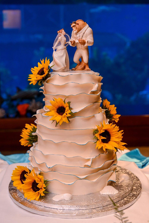 Wedding Cake Wednesday: Beauty and the Beast Sunflowers | Disney Weddings