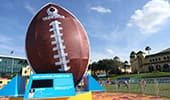Large statue of a football at ESPN Wide World of Sports Complex