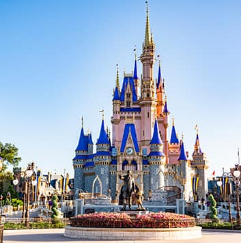 A view of Cinderella's Castle in Magic Kingdom at Walt Disney World Resort