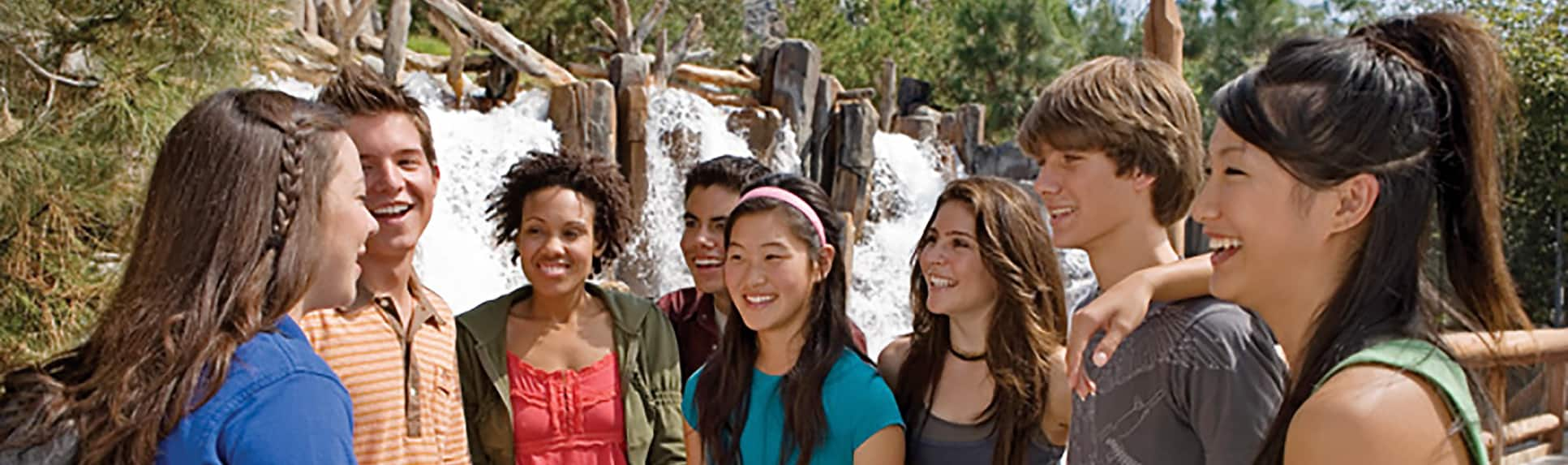 A group of smiling young adults